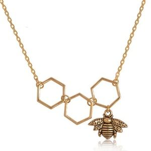 Jewelry - Betty Honeycomb Bee Necklace